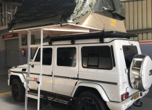 G-wagon with Eezi Awn Tent