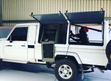 Land Cruiser with Rhinocab Canopy